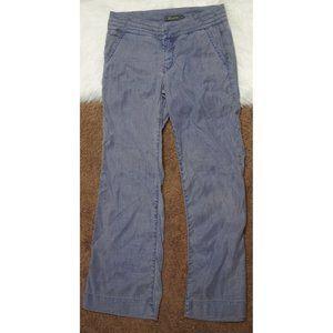 Anthropologie Level 99 Linen Blend Wide Leg Pants